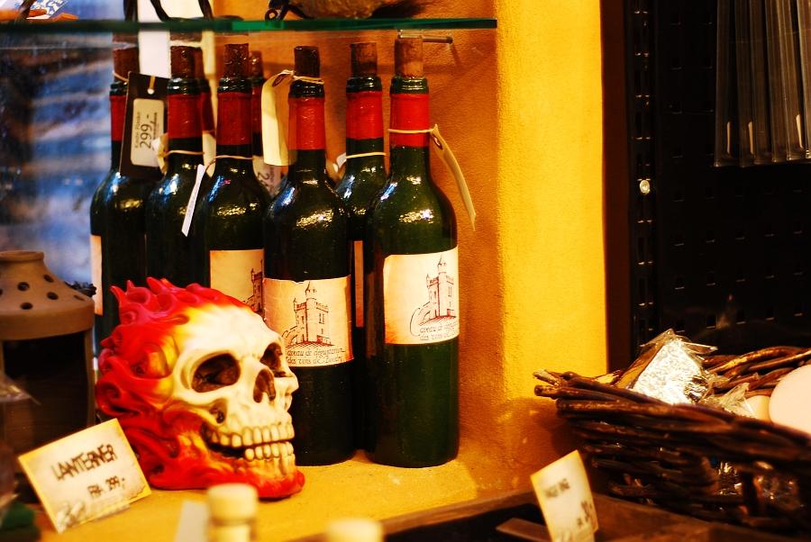 Schaumstoff-Weinflasche. Hat mir gefallen, sehr hübsch.