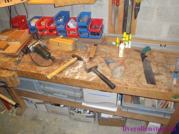 Werkzeug, das zur Verfügung stand...