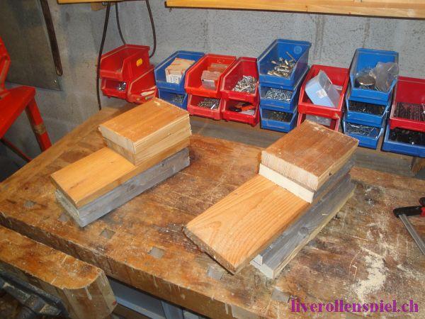 Holzrohlinge aus Palettenresten